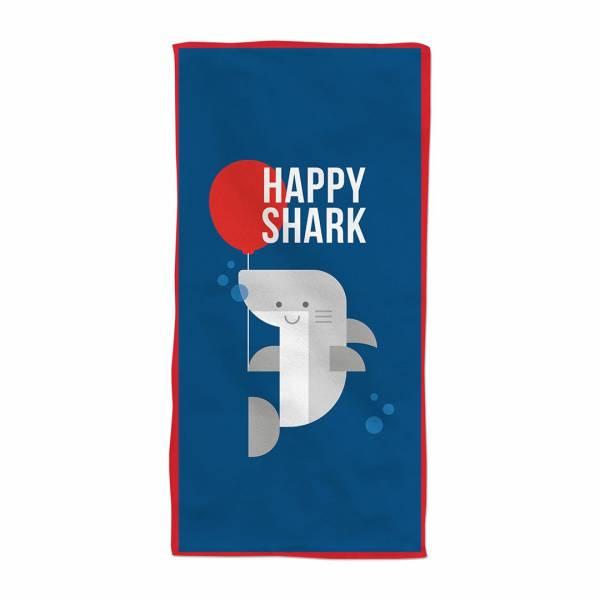 Happy Shark Plaj Havlusu - Thumbnail