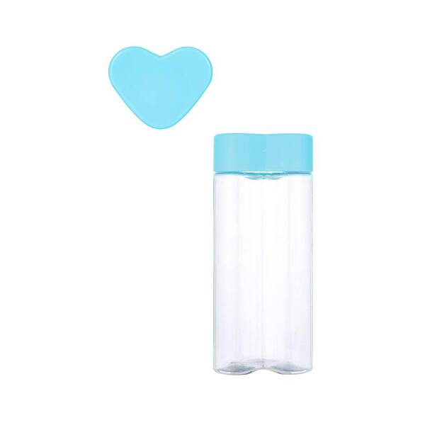 MINISO - Heart-shaped Tritan Su Kabı (Blue)